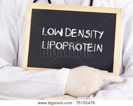 Doctor Shows Information: Low Density Lipoprotein In German