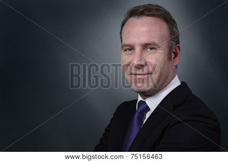 Businessman With An Attentive Expression