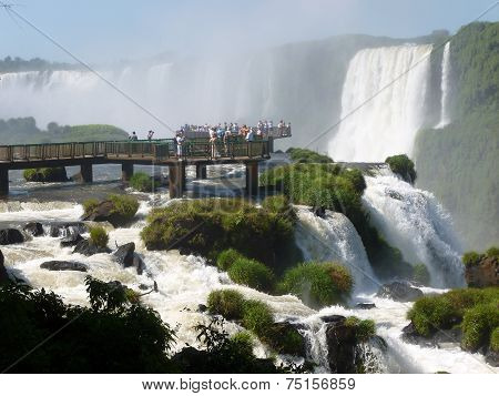 Viewpoint of the Iguazu falls
