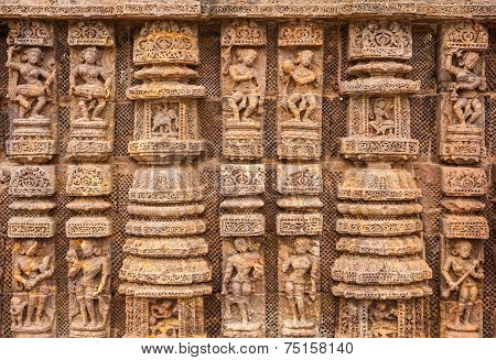 Ancient Oriyan Temple Carvings.