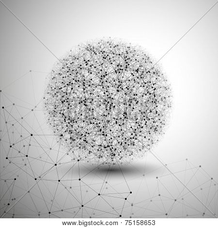Molecule structure, gray background for communication, vector illustration