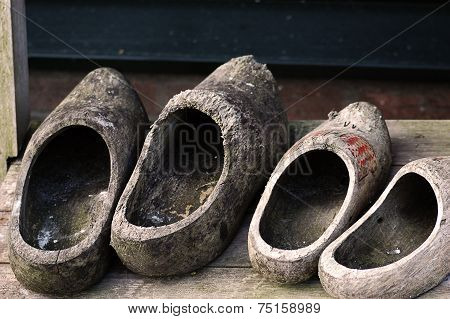 Ywo Pairs Of Dutch Clogs