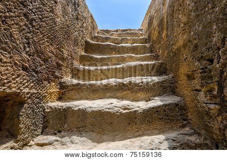 Steps To Tomb In Archaeological Museum