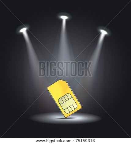 reflector light phone sim card vector