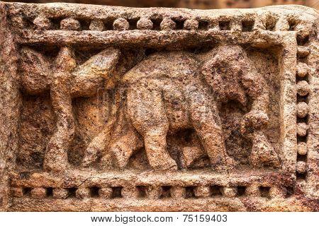 Ancient Sandstone Elephants.