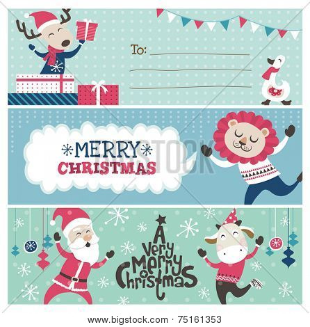 Christmas banner/ gift tag/ greeting card design