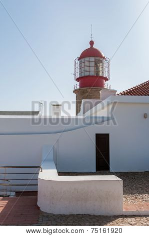 Lighthouse At Cape St. Vincent In Portugal