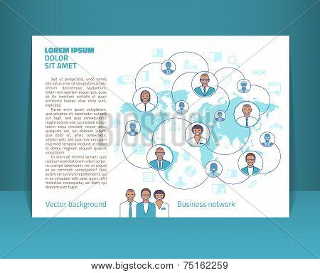 Flyer, Leaflet, Booklet Layout. Editable Design Template A5. Eps10 Vector, Transparencies Used.