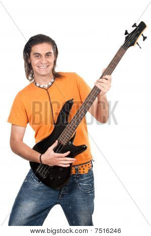 Boy With Electrical Guitar