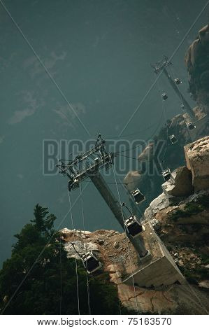cable way on Mountain Huangshan