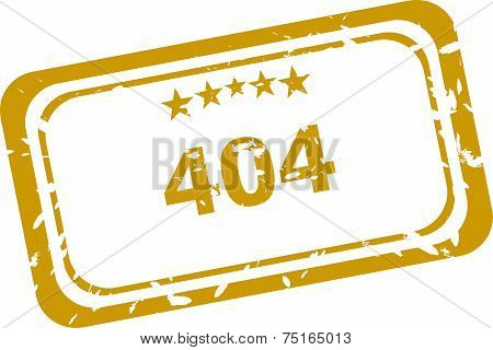 404 Error Rubber Stamp Over A White Background