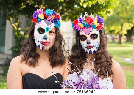 Unknown Girls At The 15Th Annual Day Of The Dead Festival