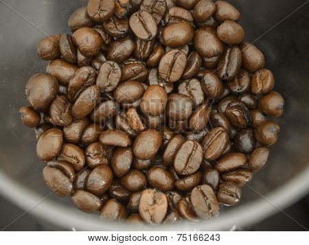 Coffee Bean In Grinder