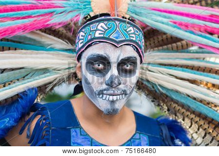 Unknown Man At The 15Th Annual Day Of The Dead Festival