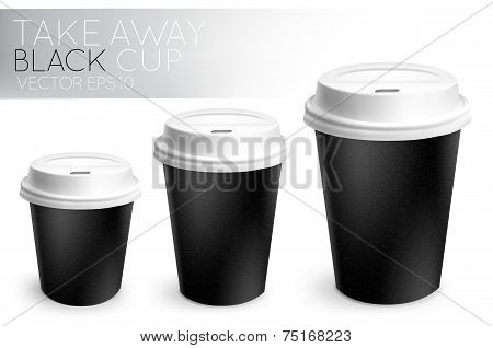 Take away paper cup black