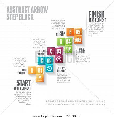 Abstract Arrow Step Block