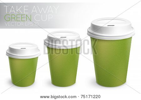 Take away paper cup green
