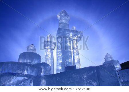 Ice Castle in Winnipeg