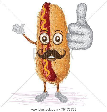 Hotdog Mustache