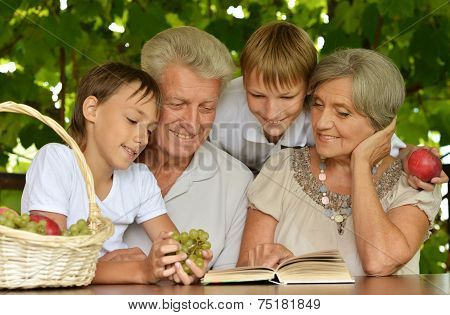 Grandparents with her grandson