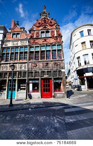 View of street in Ghent, Flemish region, Belgium