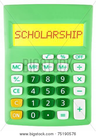 Calculator With Scholarship On Display