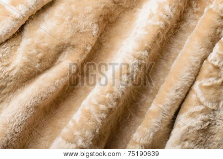 Folds In A Sheepskin Jacket
