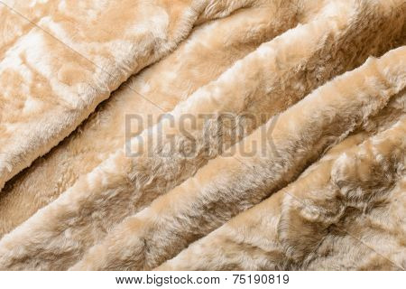 Folds In Sheepskin Jacket