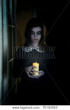Horror Scene of with scary woman