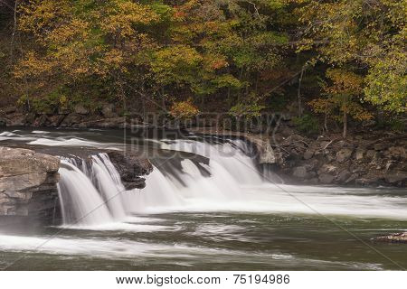 Valley Falls In Autumn