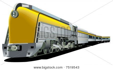 Yellow Old-fashioned Train