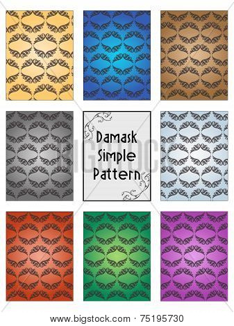 Stock Damask Pattern