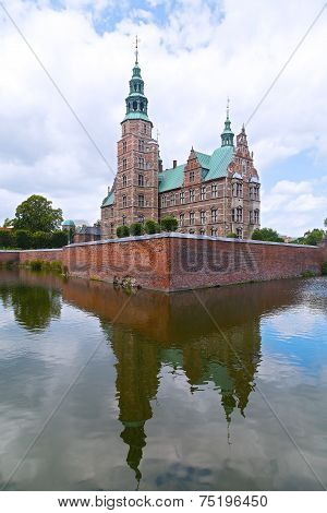 View of Rosenborg Castle from the west, Copenhagen Denmark