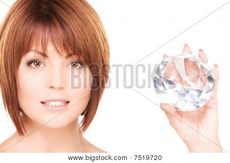 Lovely Woman With Big Diamond
