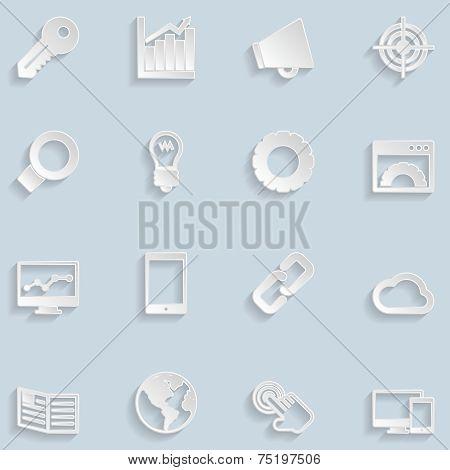 Paper Seo Icons