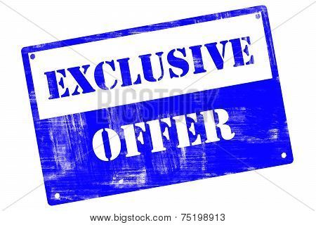 Exclusive Offer, Plate, Illustrated With Grunge Textures
