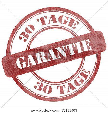 30 Tage Garantie, German Stamp