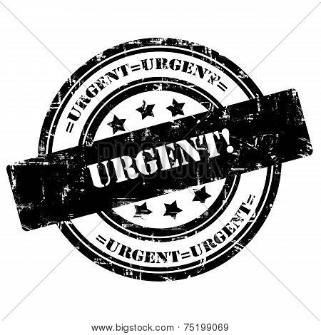 Urgent. Rubber Stamp, Grunge, Circle