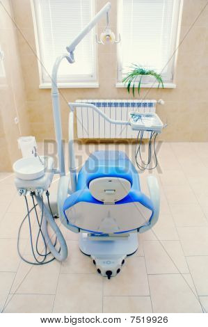 Dental chair,interior of a dental clinic
