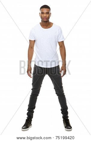 Handsome African American Male Fashion Model