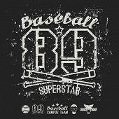 image of superstars  - Emblem baseball superstar college team - JPG