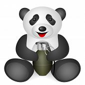 pic of grenades  - Panda grenade on a white background - JPG