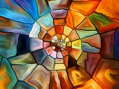 foto of fragmentation  - Stained Glass Pattern series - JPG