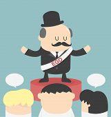 foto of temperance  - Concept ego man Cartoons concepts Illustration vector art - JPG