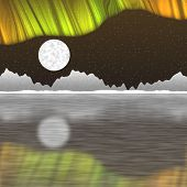 foto of arctic landscape  - Arctic pole landscape generated hires texture background - JPG