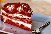 stock photo of red velvet cake  - red velvet cake - JPG