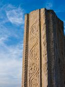 stock photo of karnataka  - A broken temple column in Melkote - JPG