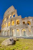 pic of elliptical  - The Colosseum or the Coliseum originally the Amphitheatrum Flavium an elliptical amphitheatre in Rome Italy - JPG