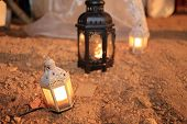 pic of marriage decoration  - candle lamp decoration festival of light lighting decorate in wedding day - JPG
