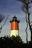 pic of cape-cod  - A view of the Nauset lighthouse in Provence town Cape Cod area - JPG
